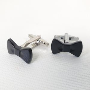 Bow Tie Stainless Steel Cuff Links